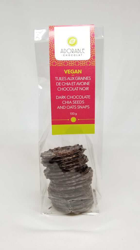 Vegan Dark Chocolate Almond Snaps