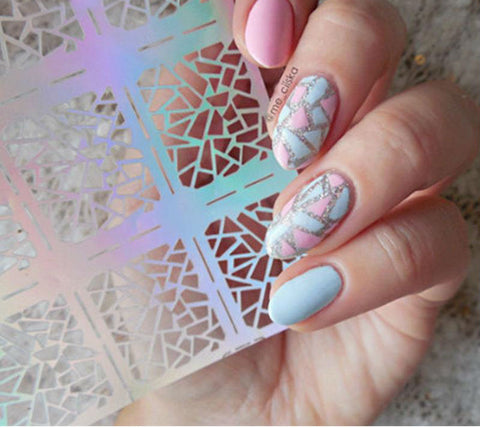 Amazing Mosaic Pattern Nail Decals