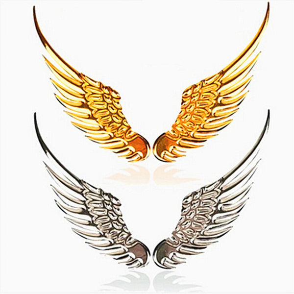 3D Metal Wings Car Decal