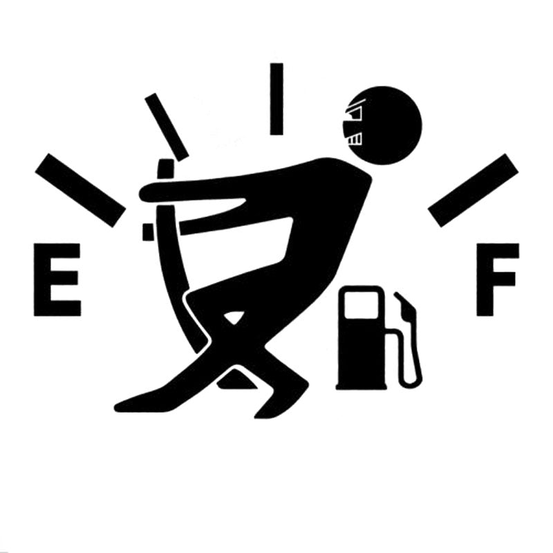 Funny Fuel Gauge Decal