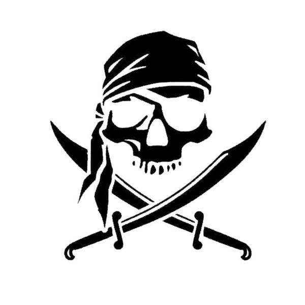 Stylish Pirate Skull Car Stickers