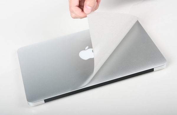 Silver Skins Protective Decal For MacBook