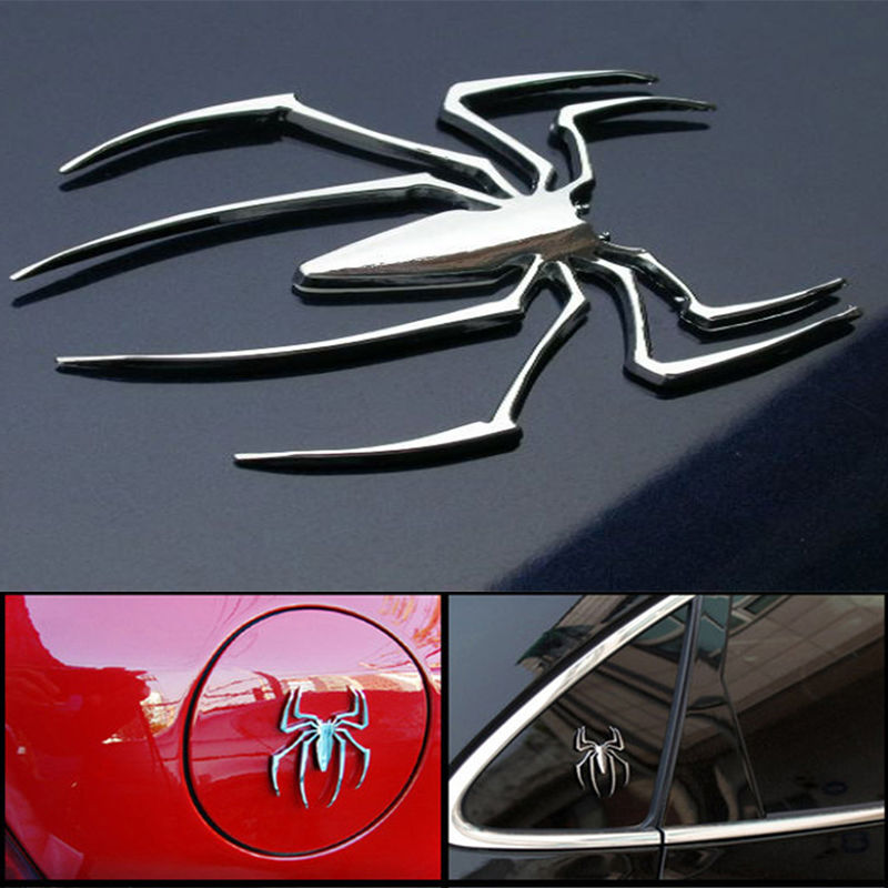 3D Stainless Steel Spider Decal