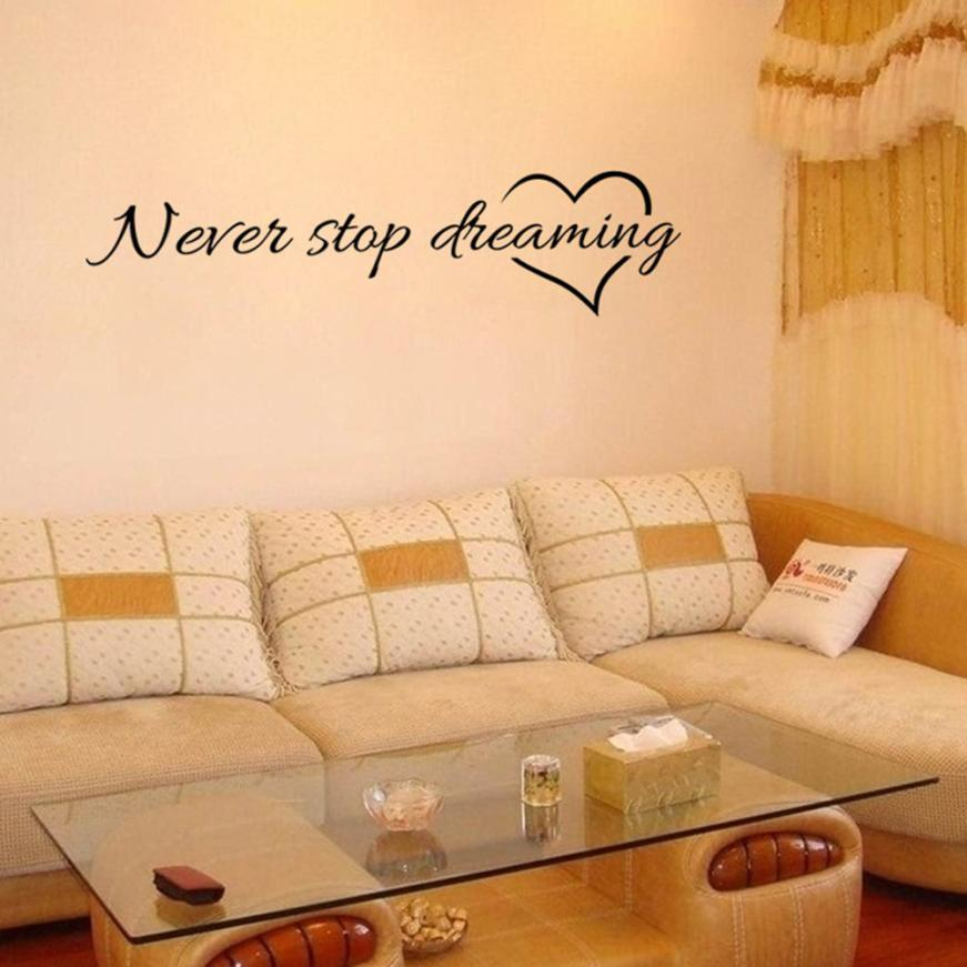 Never Stop Dreaming Removable Wall Art – The Decal House