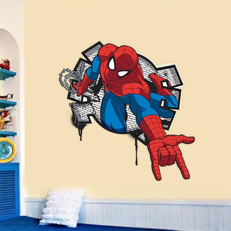 ... 3D Effect Mini Spiderman Cartoon Wall Decal ...