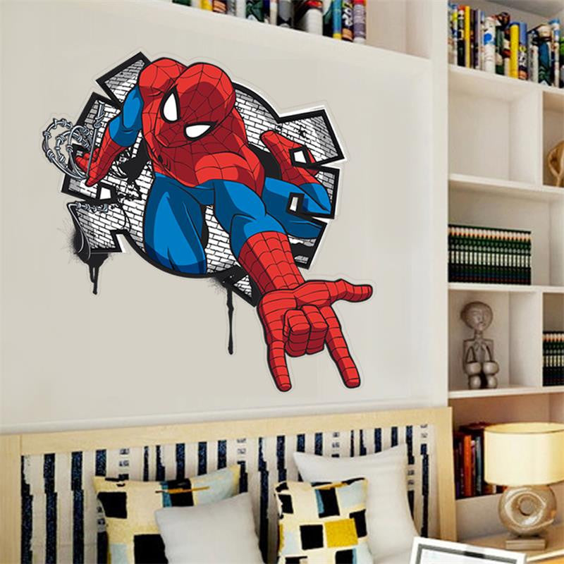 3D Effect Mini Spiderman Cartoon Wall Decal – The Decal House