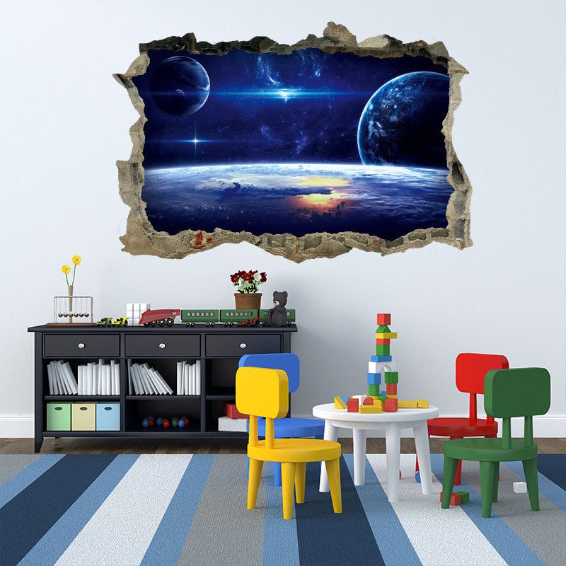 3D Galaxy Planets Wall Decal - The Decal House