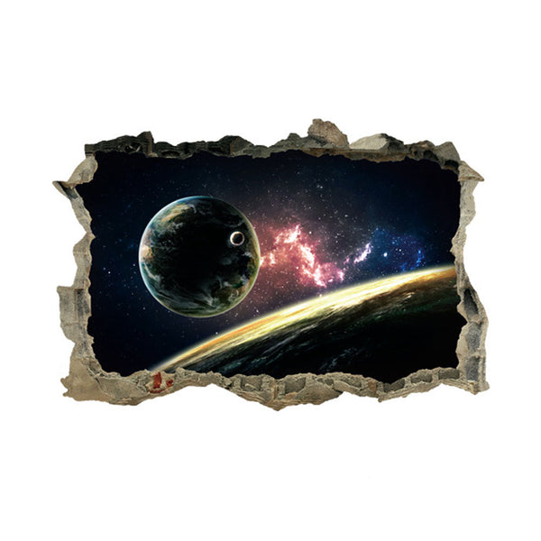 3D Planet Galaxy Wall Decal