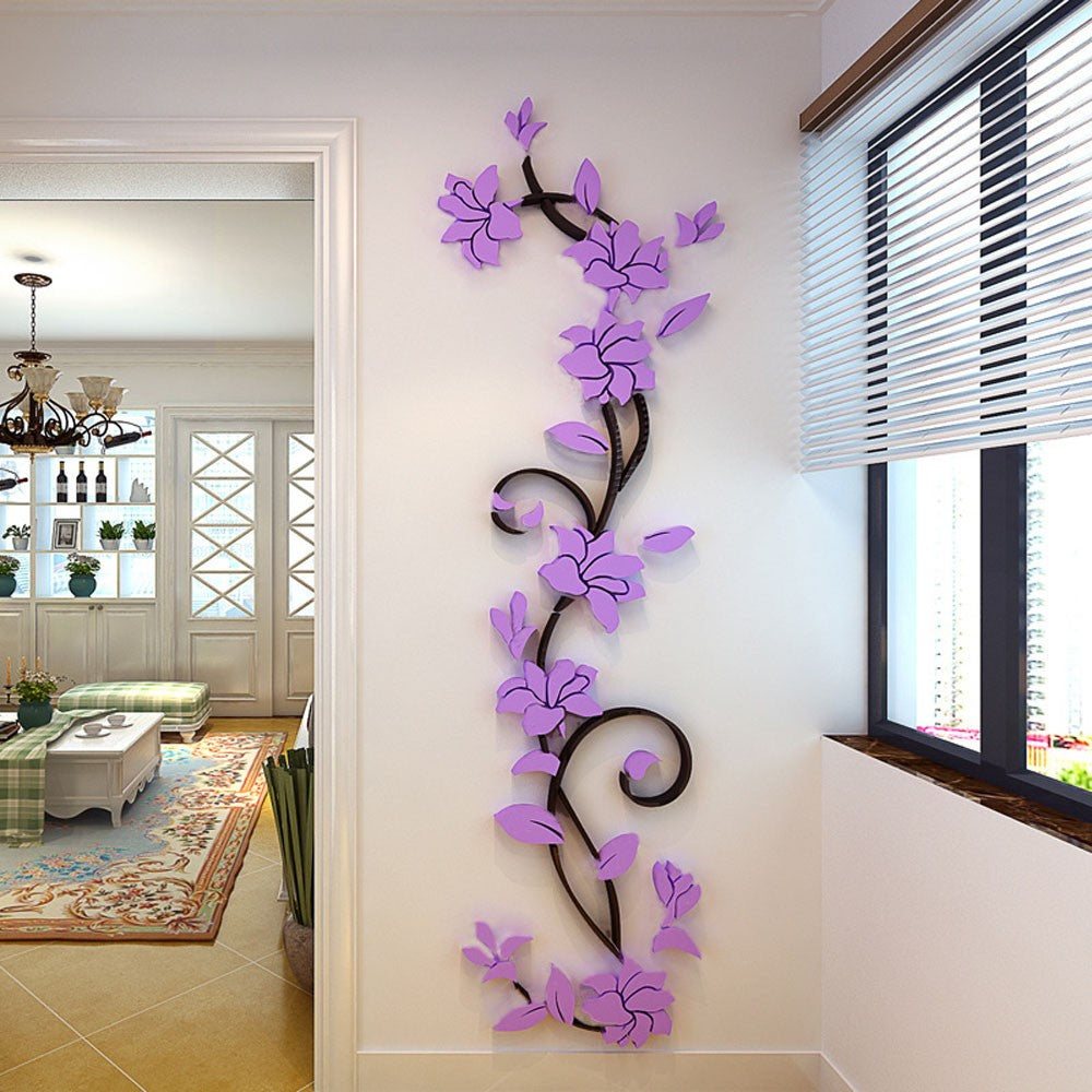 3D Romantic Rose Flower Wall Decals   LIMITED EDITION ...