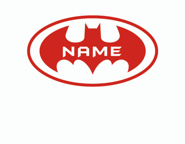 Personalized Batman Decal