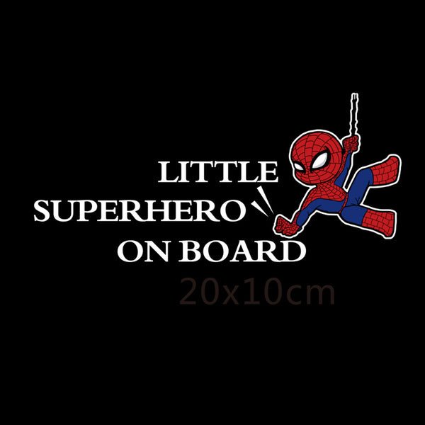 Little Superhero On Board Reflective Car Decal
