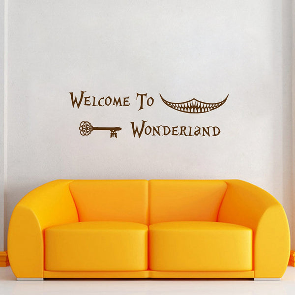 Welcome To Wonderland Wall Decal