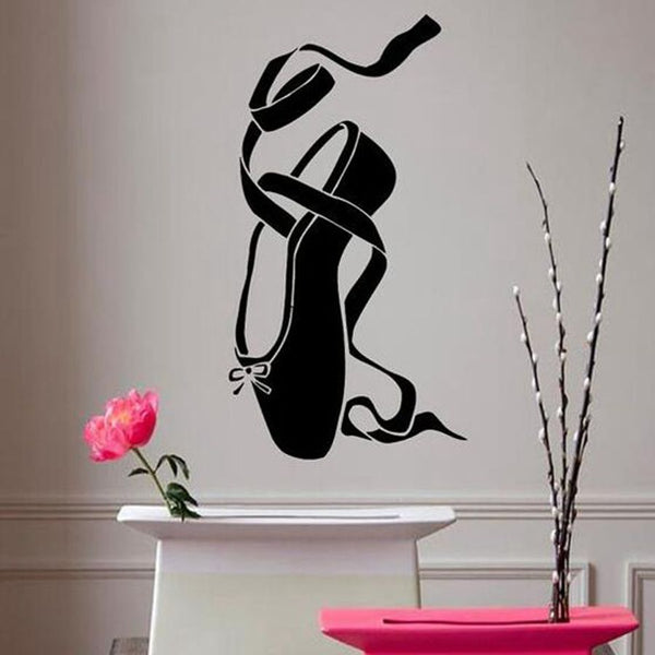 Elegant Ballerina Shoe Wall Decal