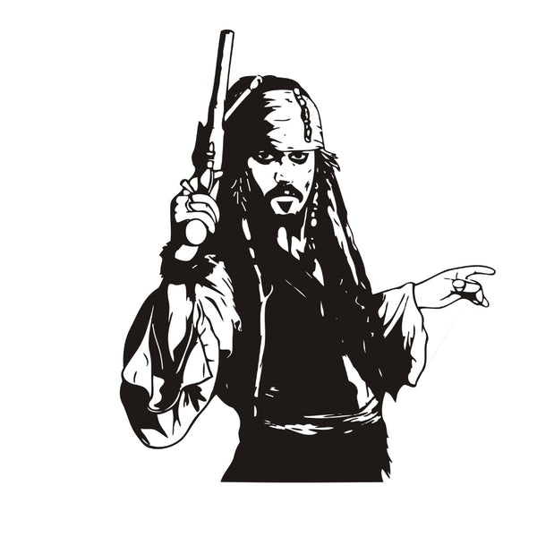Captain Jack Sparrow Wall Decal