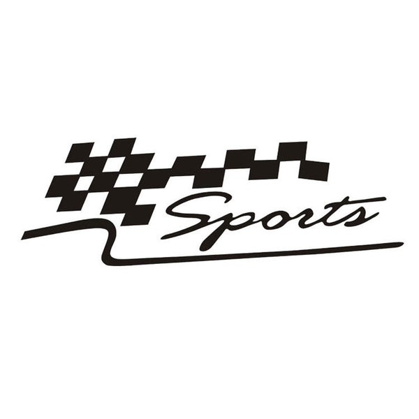 Reflective Race Flag Car Decals - SPECIAL EDITION