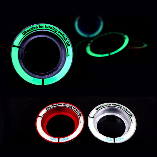Luminous Car Ignition Switch Decals