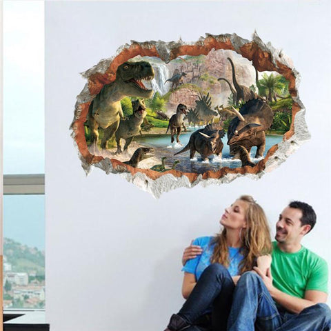 Vivid 3D Dinosaur Wall Decor