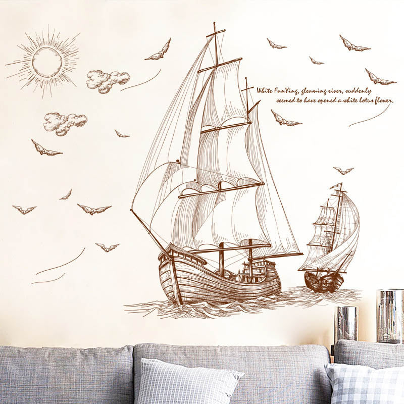 Sailing Pirate Ship Wall Art