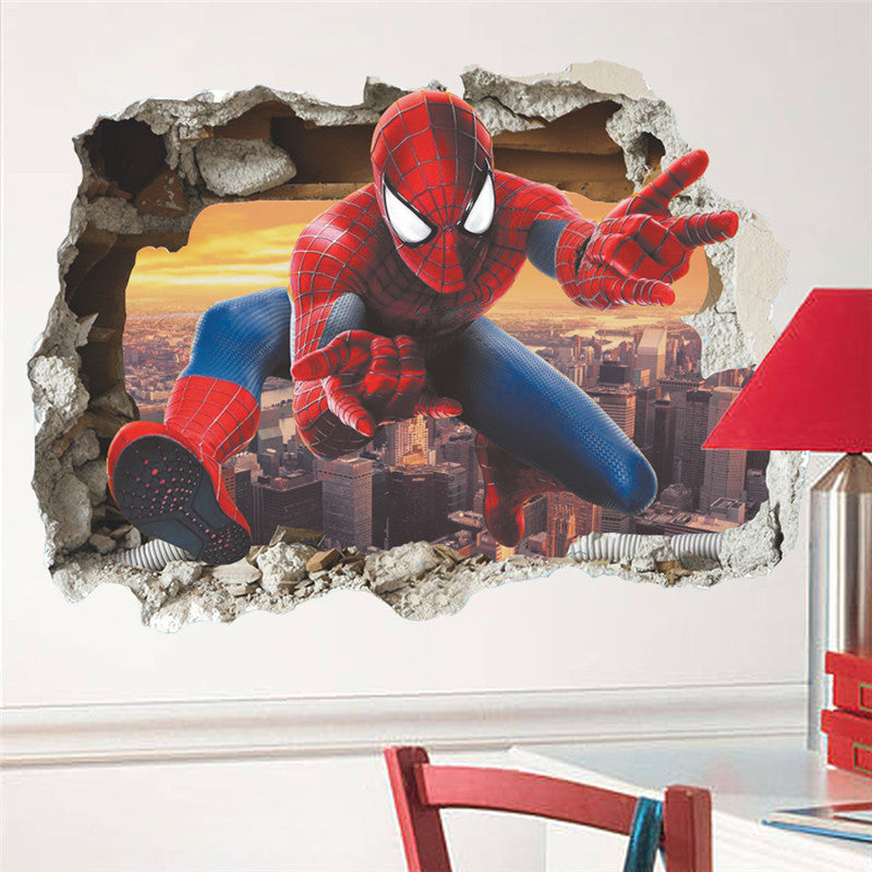 ... Spiderman Broken Wall Decal ...