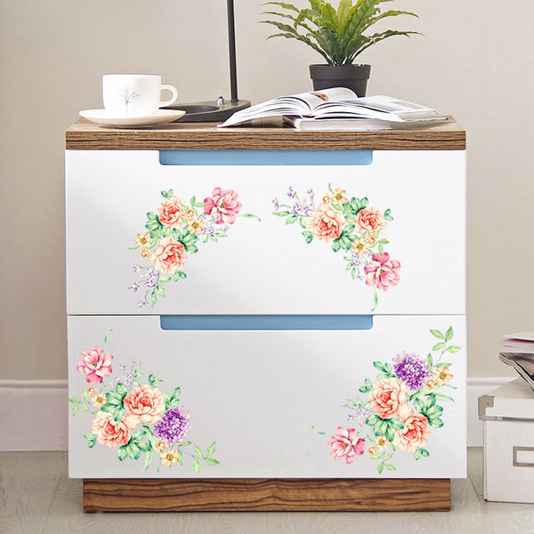 Colorful Floral Vine Decals