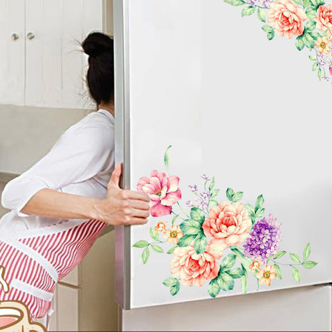 3D Colorful Flowers Wall and Fridge Decal