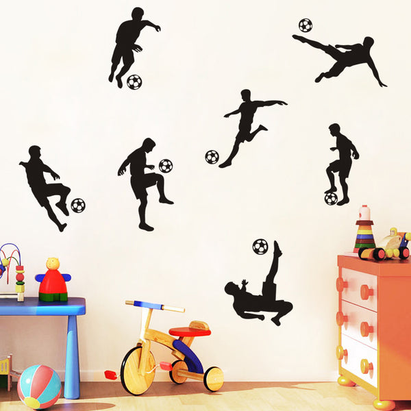 Fun Soccer Player Decals
