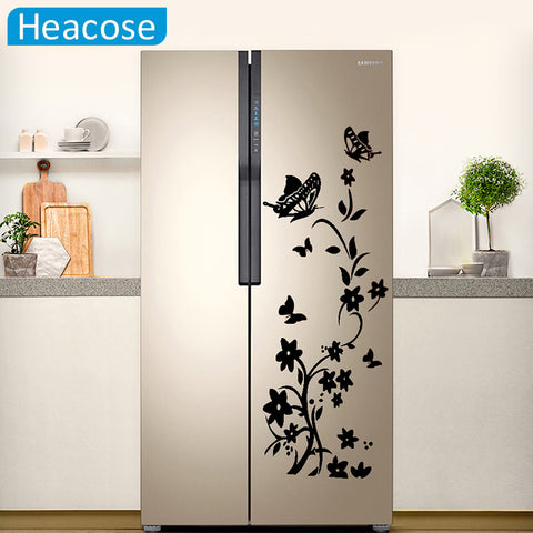 DIY Butterflies and Flowers Wall and Refrigerator Decal