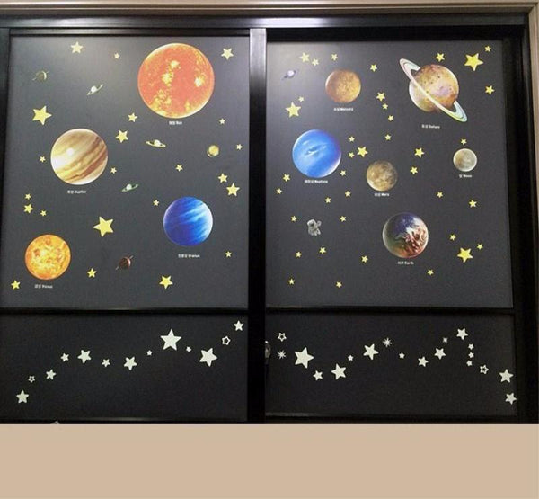 Cool DIY Luminous Solar System Decals