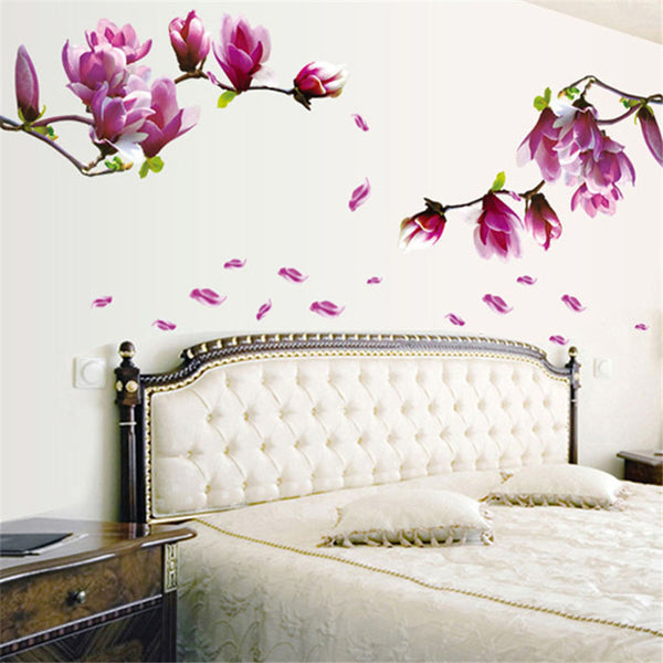 Charming Magnolia Flower Wall Decal