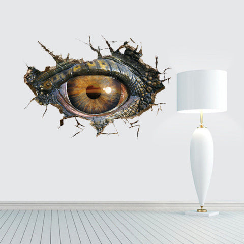 3D Dinosaur Eye Wall Decal