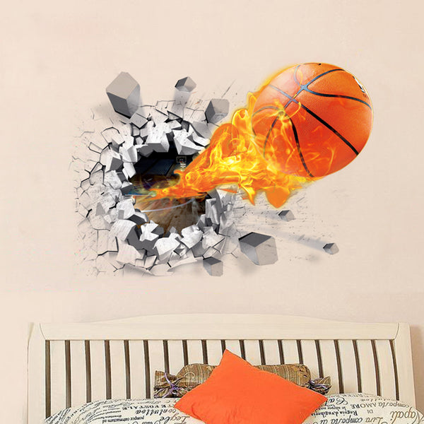 Blazing Basketball Wall Decal