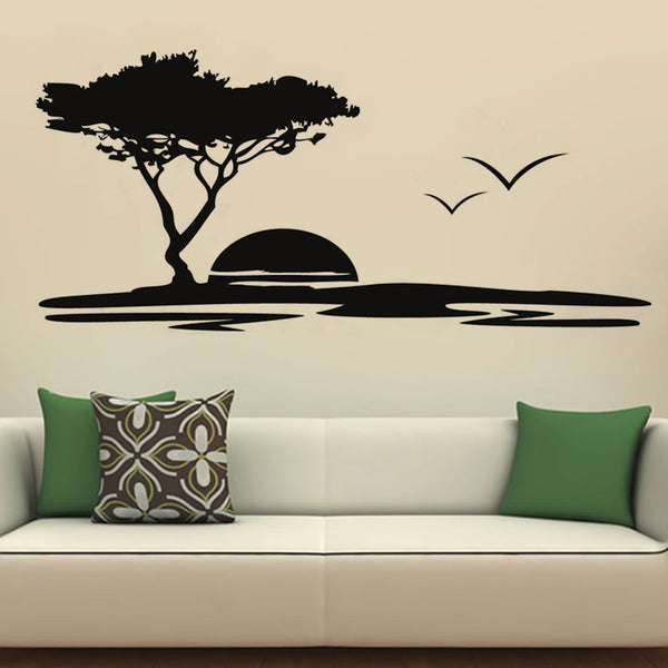 Alluring Seaside Sunset Wall Decor