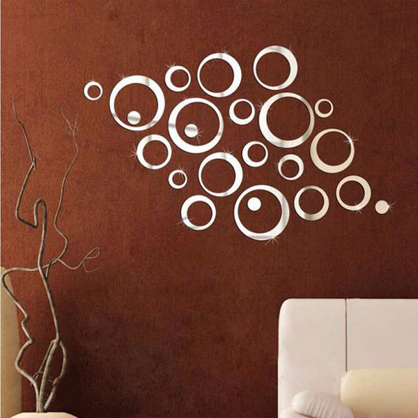 3D DIY Acrylic Reflective Wall Decals