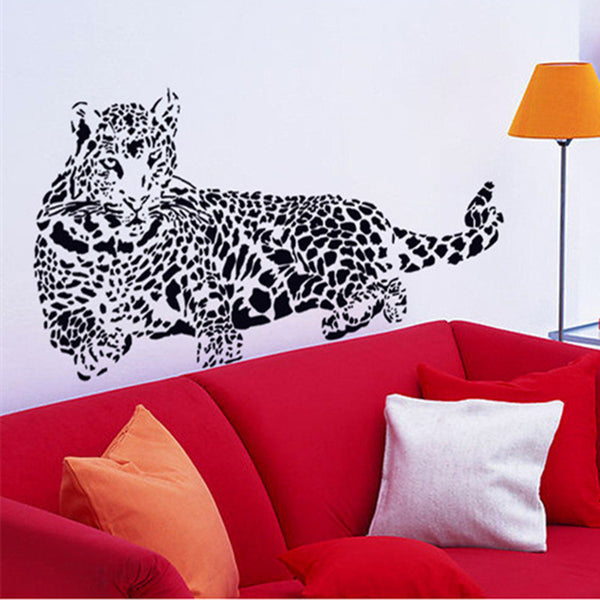 3D Leopard Wall Decal