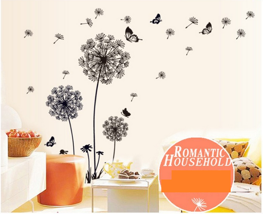 Beautiful Butterfly Dandelion 3D Wall Art