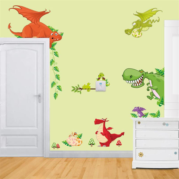 Cute Jungle Forrest Animal Theme DIY Wall Decal