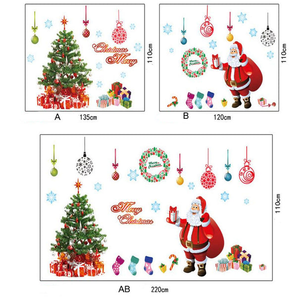 Removable Santa Claus Christmas Wall Decal