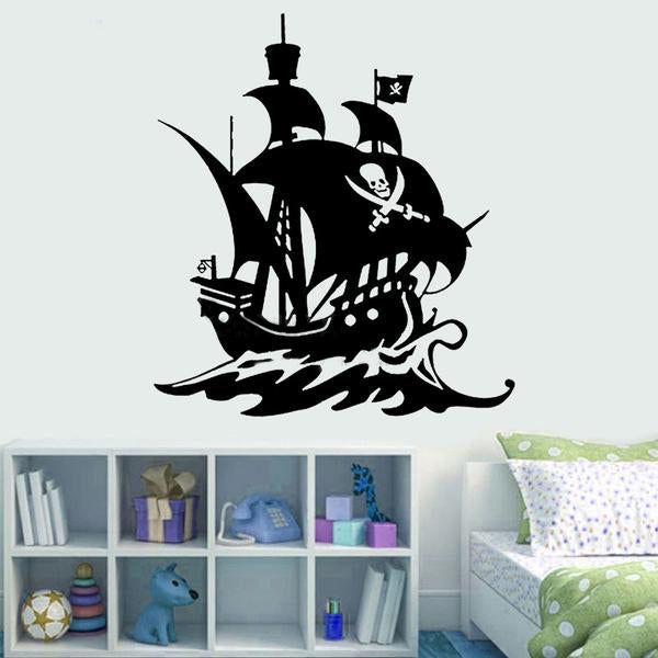 Sweet Pirate Ship Wall Decal