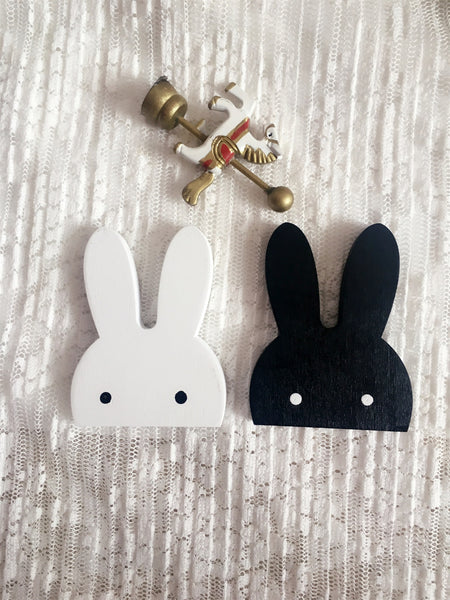 Nordic Style Wooden Rabbit Hook Wall Decoration