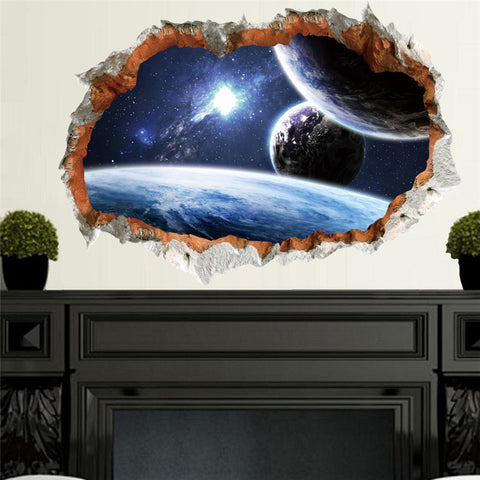 Outer Space Planet Galaxy Mural Decal