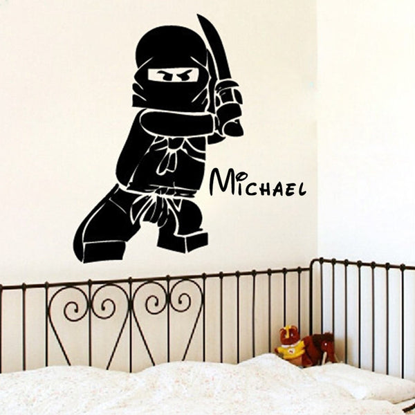 Personalized Ninjago Lego Wall Decor