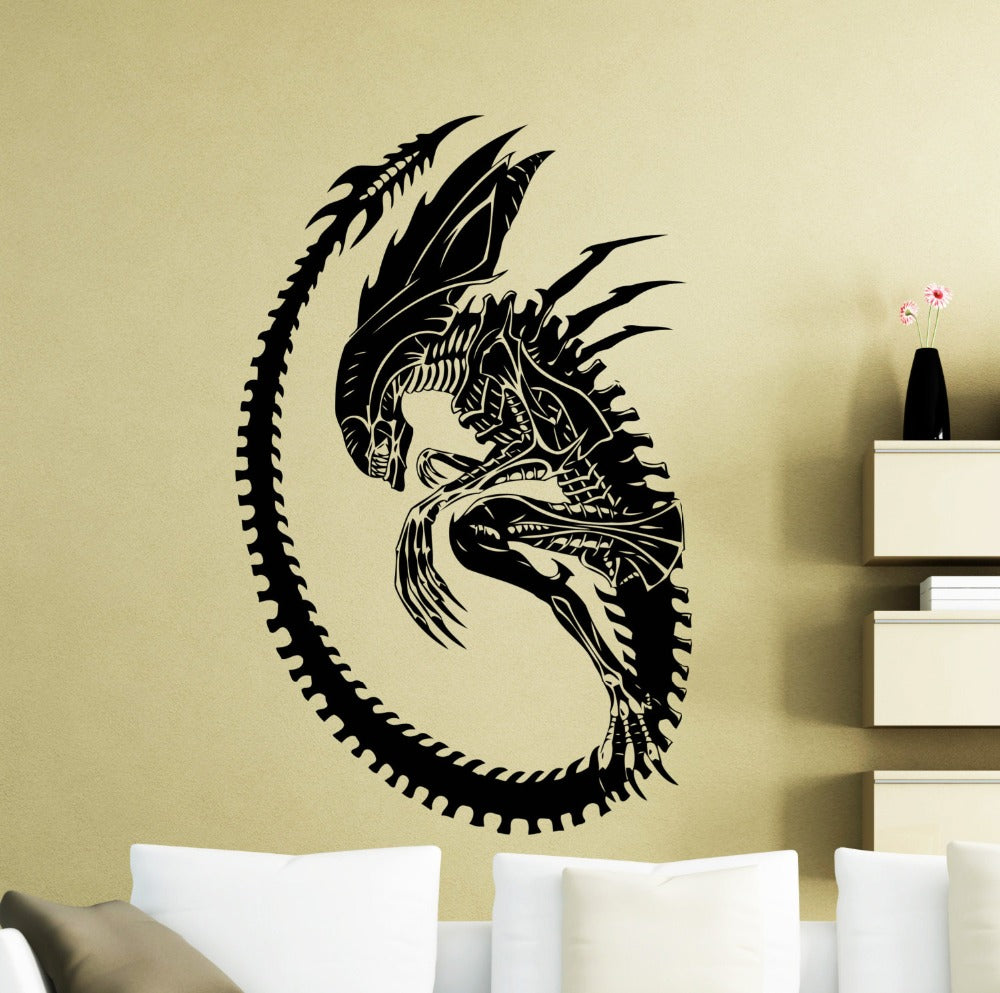 Thrilling Alien Wall Decal