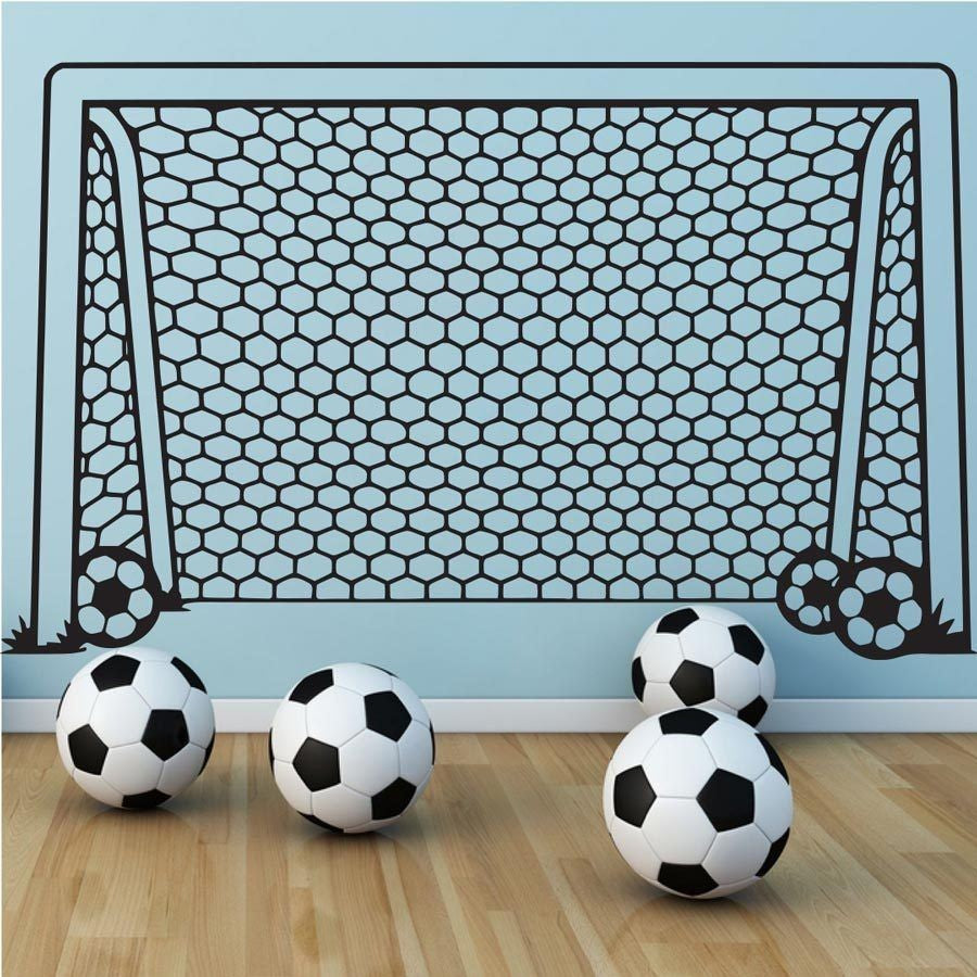Fun Soccer Goal Wall Decor