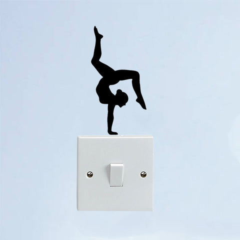 Sport Girl Gymnast Switch Decal