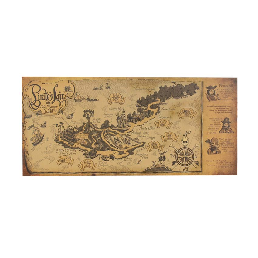 Pirate World Map.Retro Pirate World Map Wall Decal The Decal House