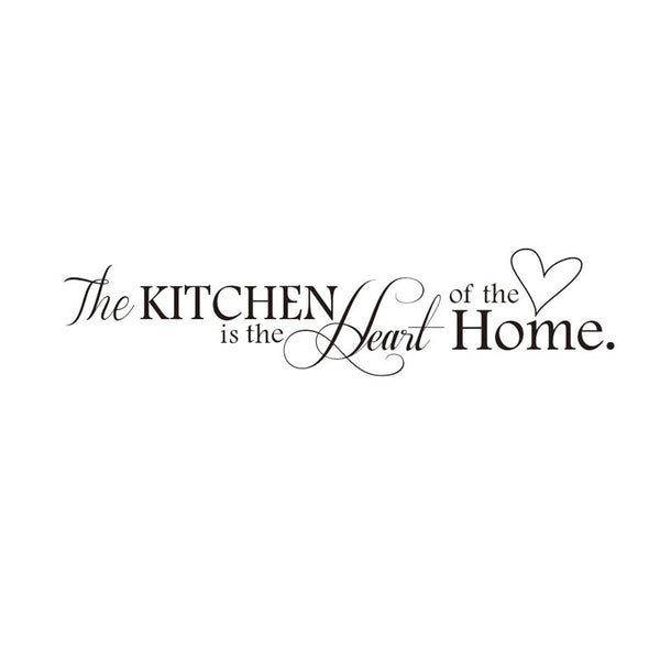 The Kitchen is Heart of Home Quote Decal