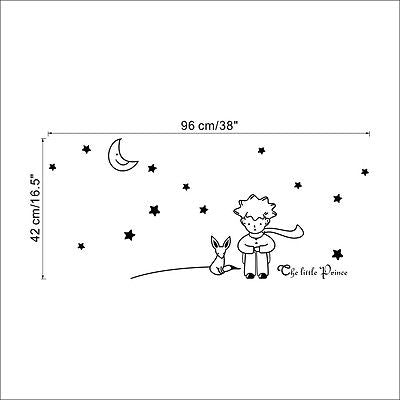 The Little Prince Moon Stars Wall Decal