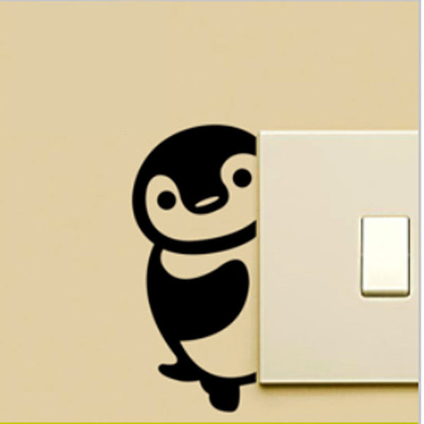 Super Cute Penguin Switch Decal