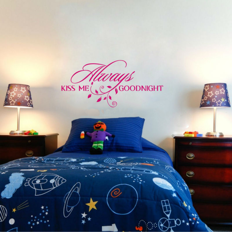 ... Always Kiss Me Goodnight Wall Decal ...