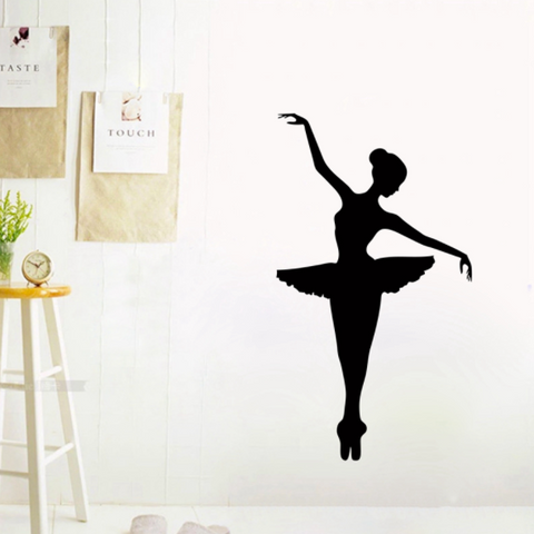 Elegant Ballerina Dancer Wall Decal